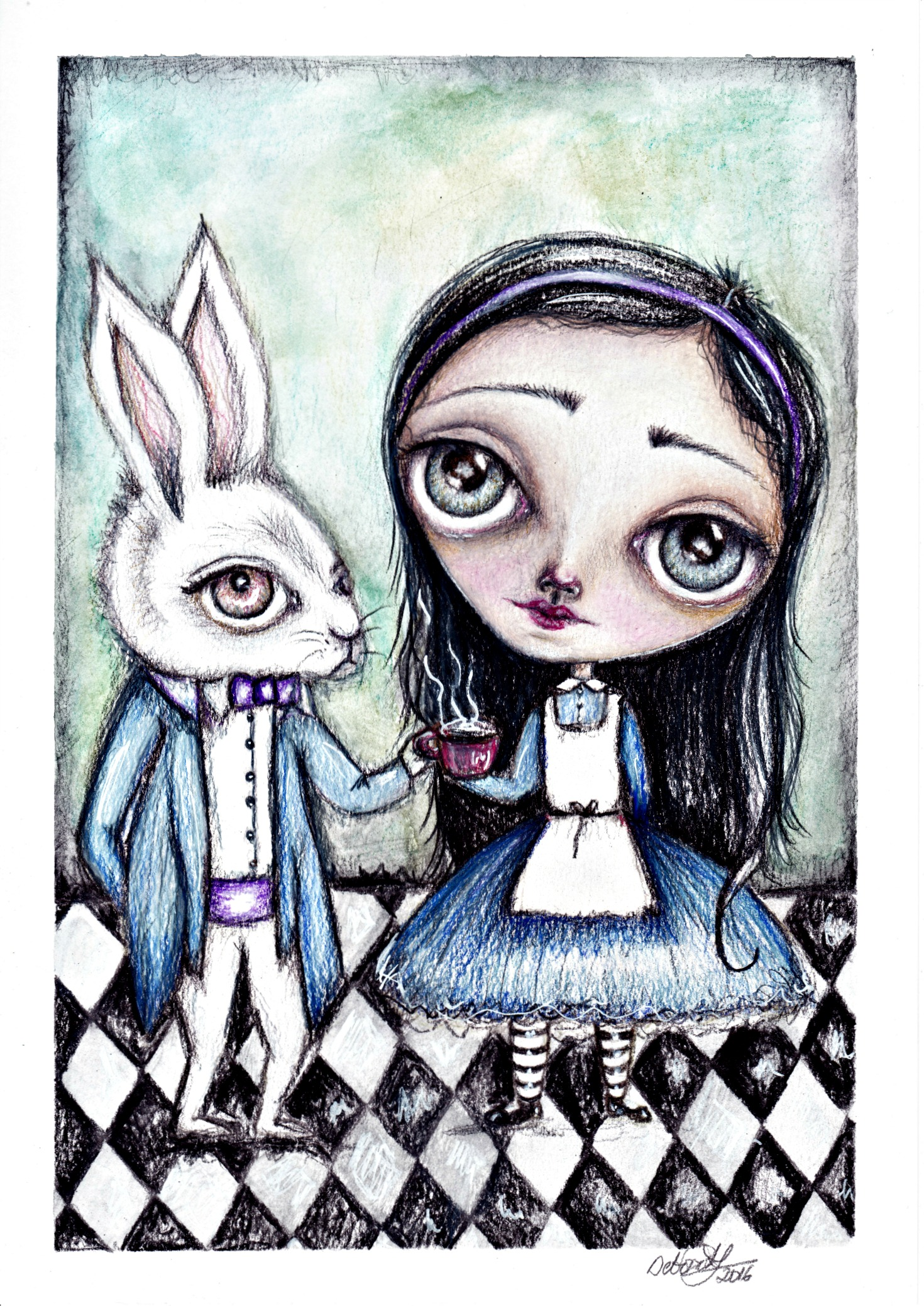 Magical Tea Potion watercolour and pencil on paper
